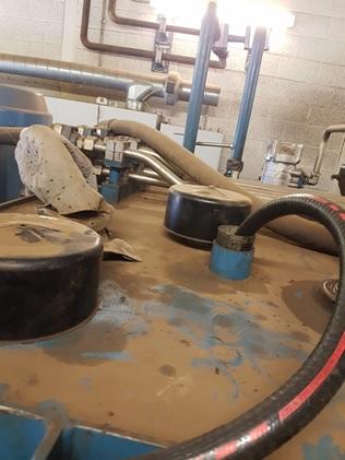 Dirty Oil Tank