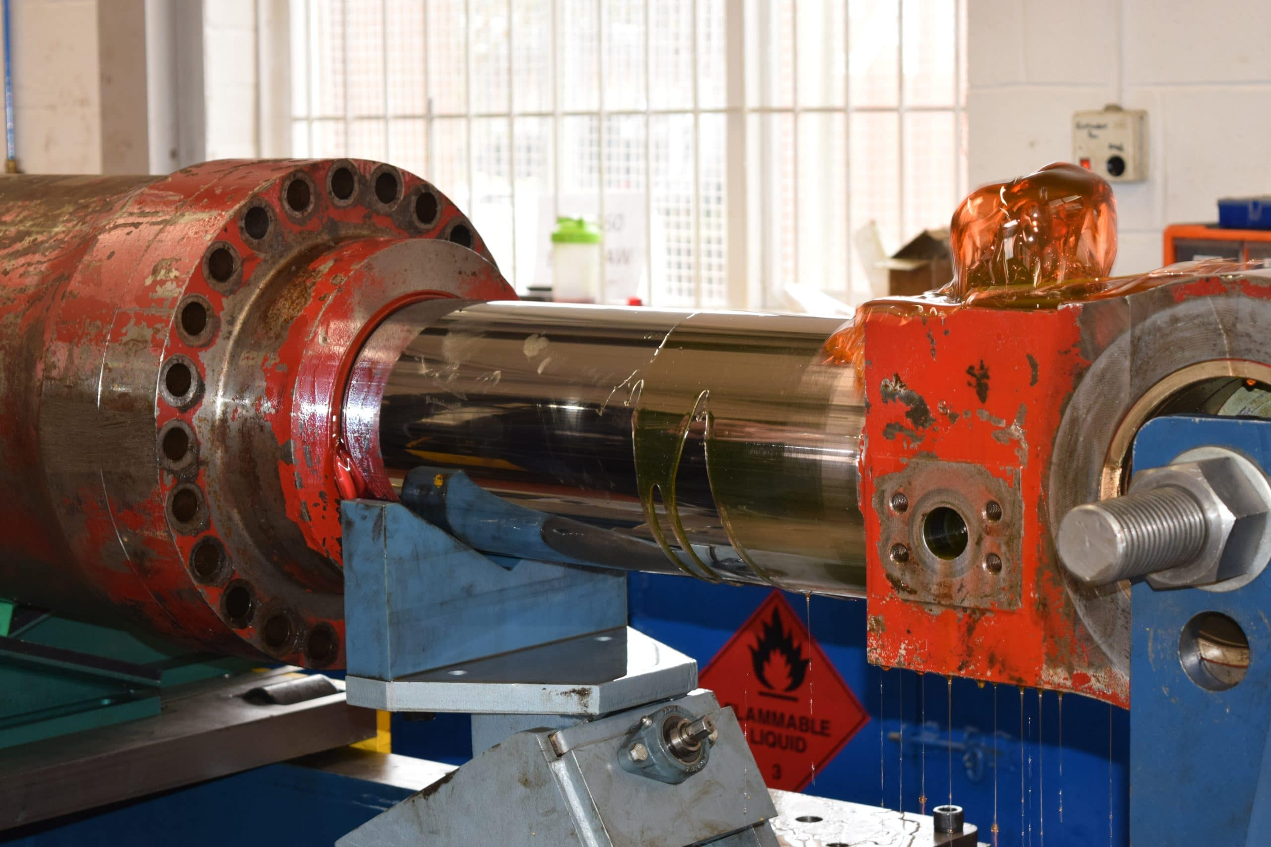Cylinder from an Excavators